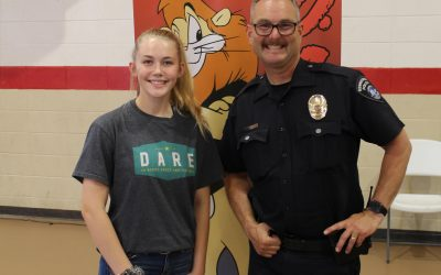 Allison Littrell, Youth Advocacy Board Member from Washington, at Saint Joe's Elementary School D.A.R.E. Graduation